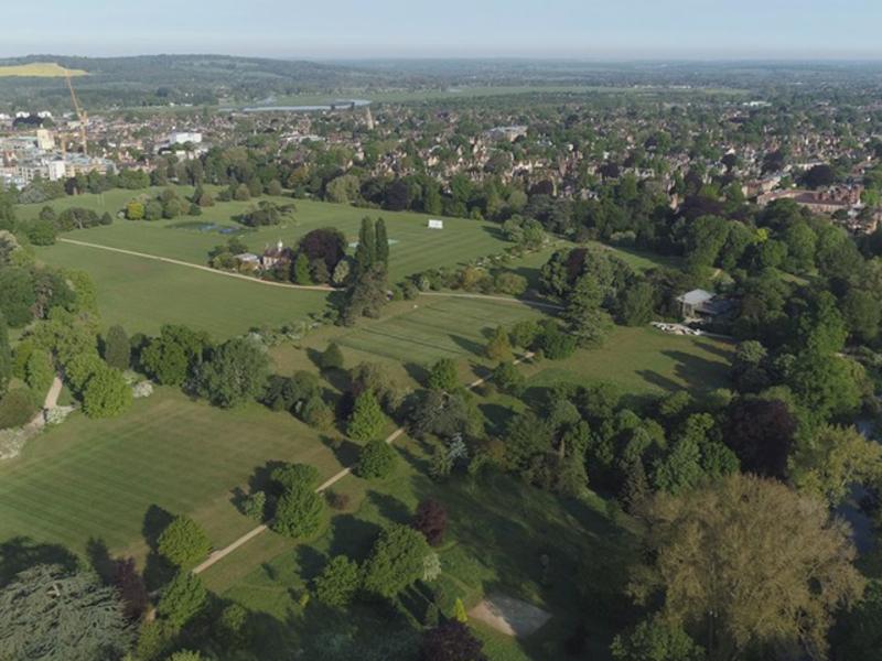university parks from the sky